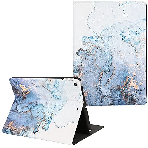 Artcase - Funda para iPad de 8ª y 7ª generación (10,2 pulgadas), piel sintética con función atril para Apple iPad de 10,2 pulgadas, 2020/2019 (mapa dorado)