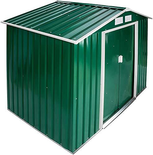 Metal Garden Storage shed Tool shed Tent 214x130x185 cm,Green-B