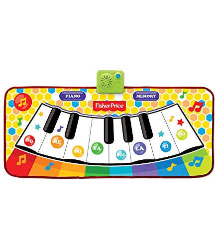 Fisher-Price – Dancin' Tunes Music Mat, Electronic and Interactive Music Keyboard, Piano Mat, Learn to Play Piano, Toddler, Ages 3+