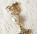 MYYQ Metal Cross Perle Silber Nadel Charakter Fransen Ohrring Ohrringe Ohrring Ohrringe Länge 8cm...