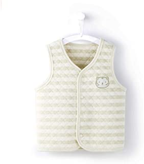 COBROO Newborn Baby Vest Organic Cotton Kids Vests & Waistcoats 0-2 Years Old Cute Kitty Infant Outerwear & Coats