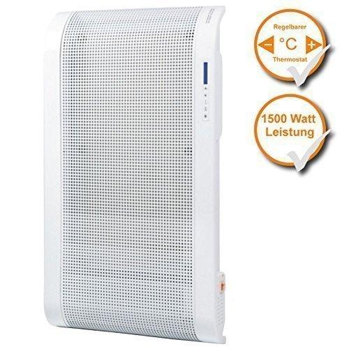 Wandheizung (Glimmerheizung mit 2 Wärmestufen, Wärme nach 2 Min, Sicherheitssensor, leichte 5,5Kg.)