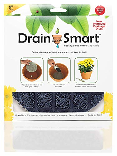 """Drain Smart 9"""" 2-Pack Drainage Discs - Perfect for Indoor/Outdoor Potted Plants 