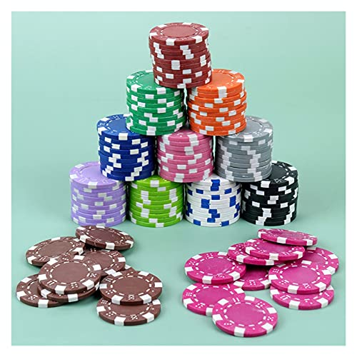 MARYYUN Fiches da Poker 10pcs fiches da Poker Multiplayer Gioco ABS + Ferro + Clay Chip del Poker Texas Hold'em Poker Monete di Metallo Monete di Metallo Accessori di fiches Chip di Poker del Casinò