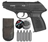 Tiendas LGP - Gamo - Pack Pistola Gamo P-23 - Arma de Aire comprimido Potencia de 3,5 Julios, 4,5 mm, Velocidad de Salida 125 m/s. + 5 Bombonas CO2 + Funda Portabombonas + 500 Bolas Acero