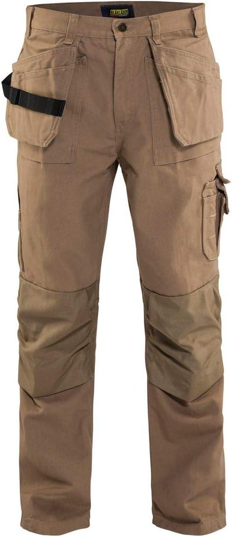 28-Inch Length Khaki Blaklader Workwear Bantam Pant with Utility Pockets 8-Ounce Cotton 32-Inch Waist