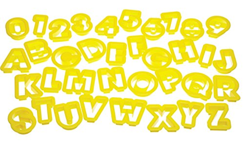 Kitchen Craft Let's Make 36-Piece Alpha-Numeric Cutter Set