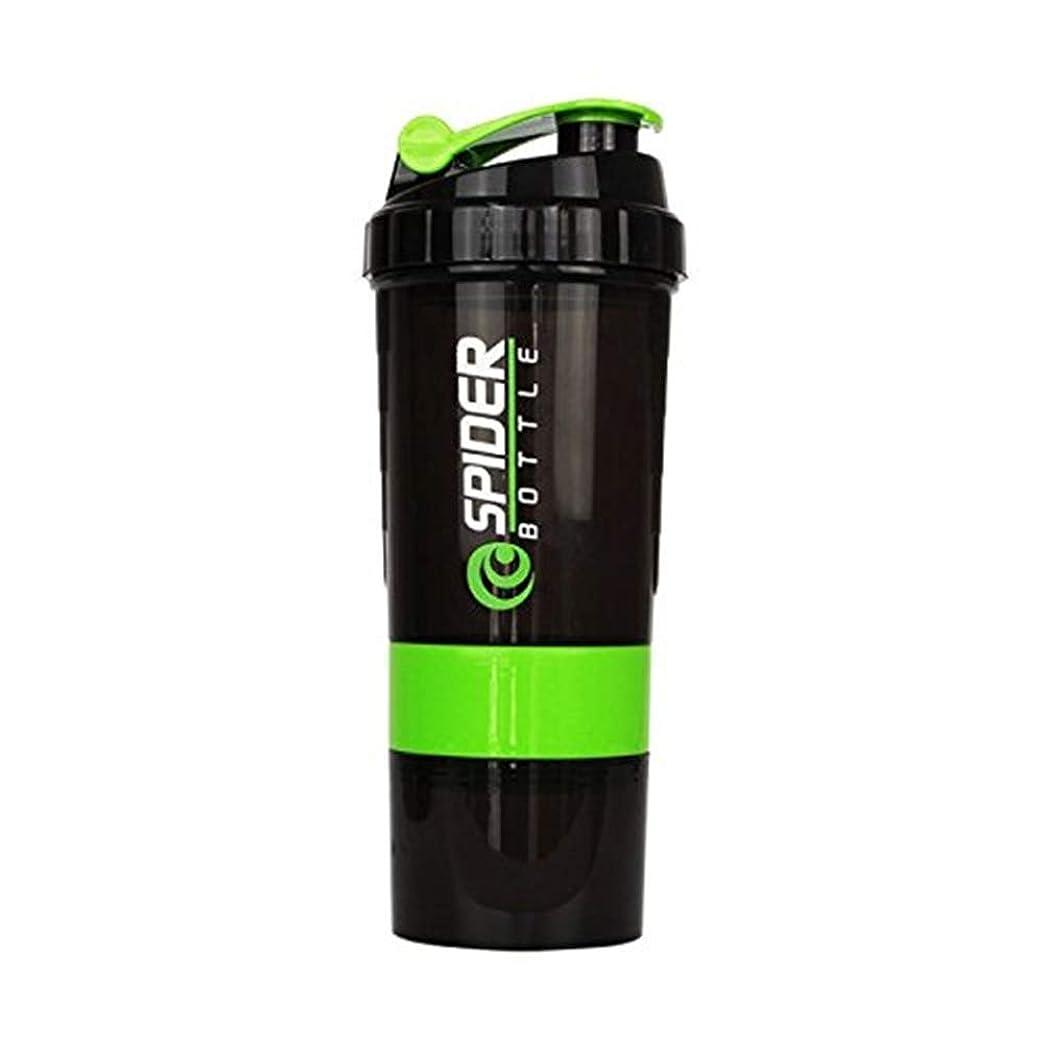ファンネルウェブスパイダー私の統合するプロテインシェイカー シェーカーボトル フィットネス用 グリーン 500ml