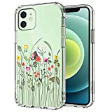 MOSNOVO iPhone 12 Pro Case, iPhone 12 Case, Wildflower Floral Flower Pattern Clear Design Transparent Back Case with TPU Bumper Case for iPhone 12 Pro/iPhone 12 6.1 Inch