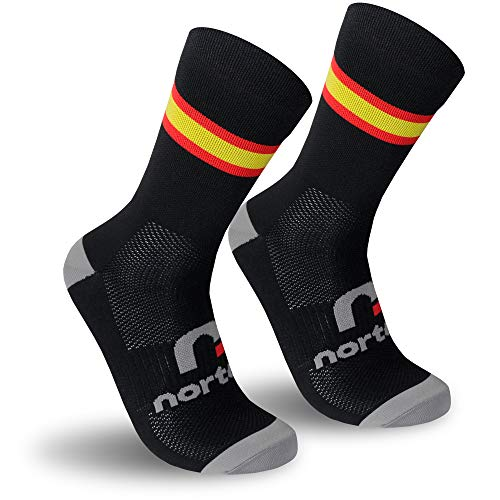 NORTEI - Calcetines Bandera España para Ciclismo