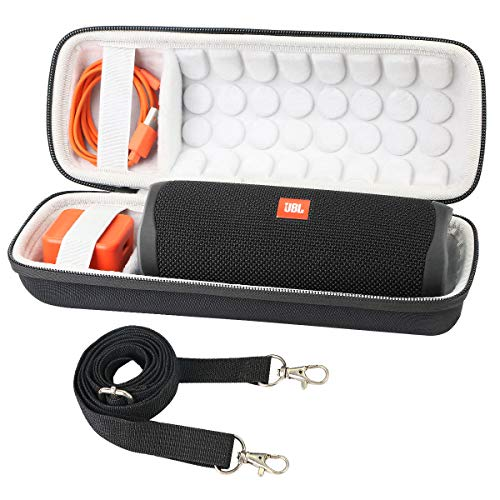 Khanka Dur Cas étui de Voyage Housse Porter pour JBL Flip 5 Enceinte Bluetooth Portable (avec Sangle)