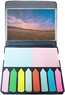 Pink Grass Sky Self Stick Note Color Page Marker Box