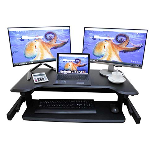 Yuzhijie Escritorio de elevación de pie para ordenador, escritorio de elevación móvil, escritorio de aprendizaje de elevación, móvil, tamaño pequeño