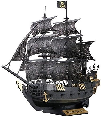 Entrega gratuita y rápida disponible. Paper Nano negro Pirate Ship Building Kit Kit Kit by Paper Nano  selección larga
