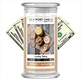 Cash Money Candles   $2-$2500 Inside   Guaranteed Rare $2 Bill   Large Long-Lasting 21oz Jar All Natural Soy Candle   Fall/Winter Collection   Grandma's Cookies