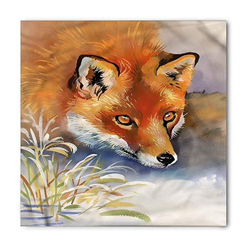 Bandana de zorro, Acuarela de retrato de animal salvaje, Cabeza y corbata unisex Cinta para la cabeza Cinta para la cabeza