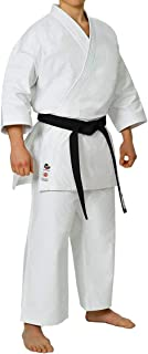 Seishin Premium Adult Karate Gi Uniform Men – White WKF Approved Black