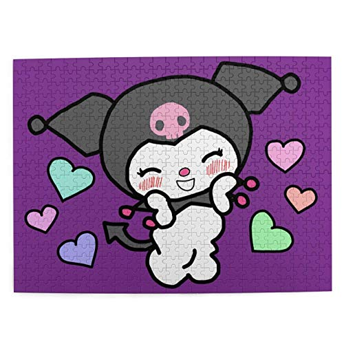 shishan My Melody and Kuromi 500 Pieces Jigsaw Puzzle for Adult Boy Girl Puzzle Game Artwork 20.5 X15.1 in