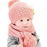 Dragon868 Gorras para bebé, Hermoso bebé de Invierno de Lana Caliente Capucha...