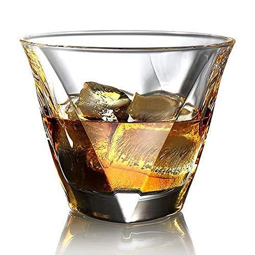 ecooe Whiskeygläser Whiskey Glas Set Whiskybecher 2x300ml für Scotch, Bourbon, Whiskey und Viele Getränke Mehr