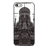 Iphone 6 / 6sケース, 聖母マリア教会強化ガラススリムソフトTPUブラックハードカバーケース