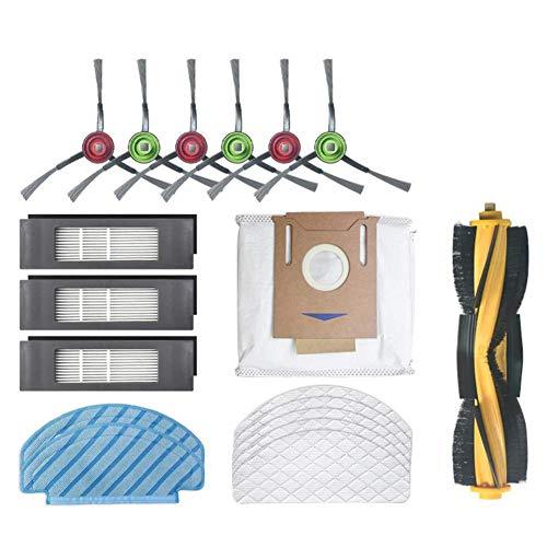 NICERE Partes de aspirador reemplazos para DEEBOT OZMO T8 AIVI barrido robot Partes de aspirador cepillo principal cepillo lateral desechables limpieza trapeador bolsa de polvo