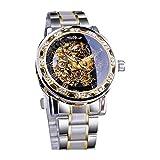 Mitiy Men's Watch Luxury Mechanical Stainless Steel Automatic Self-Winding Luminous Diamond Dial Wrist Watch