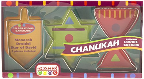 The Kosher Cook 3-Piece Deluxe Chanukah Cookie Cutters