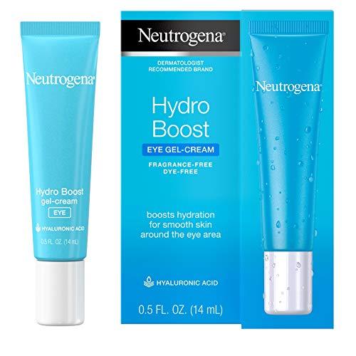 Neutrogena Hydro Boost Hydrating Gel Eye Cream with Hyaluronic Acid, Dermatologist Recommended Water Gel Under-Eye Cream, Oil-, Dye-