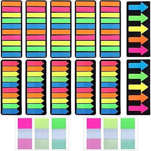 VEGCOO 2400 Notas Adhesivas Índices, Marcadores Adhesivos de colores para Oficinas Escuelas