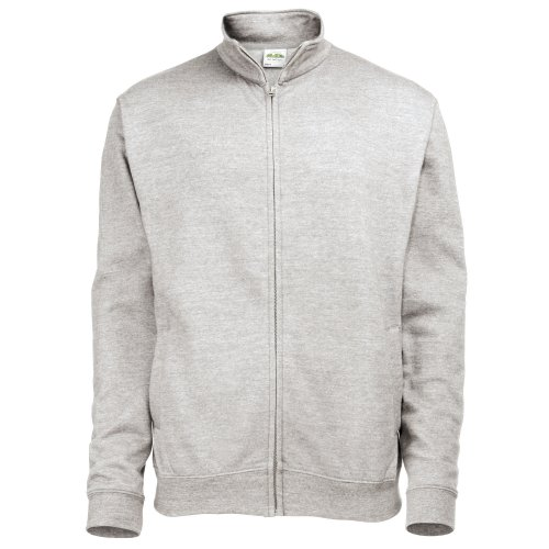 Awdis Mens Plain Fresher Full Zip Sweat/Sweatshirt/Outerwear (L) (Heather Grey)