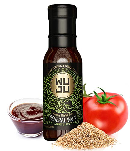WUJU General Wu's Chinese BBQ Sauce, Marinade & Savory Asian Dressing - Naturally Gluten Free Asian BBQ Sauce - Savory & Spicy Ginger Sauce - Authentic Spicy BBQ Sauce w/ Natural Ingredients - 8 Ounce