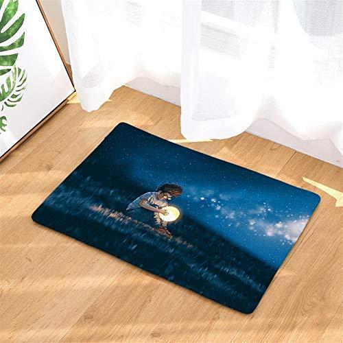 Mode Chase Stern Fußmatte Badezimmer-saugfähige Anti-Rutsch-Matten-Teppich Wohnzimmer-Dekoration Staubentfernung Pad für geeignetes Wohn- und Schlafzimmer ( Color : D2884-14 , Size : 40*60CM )