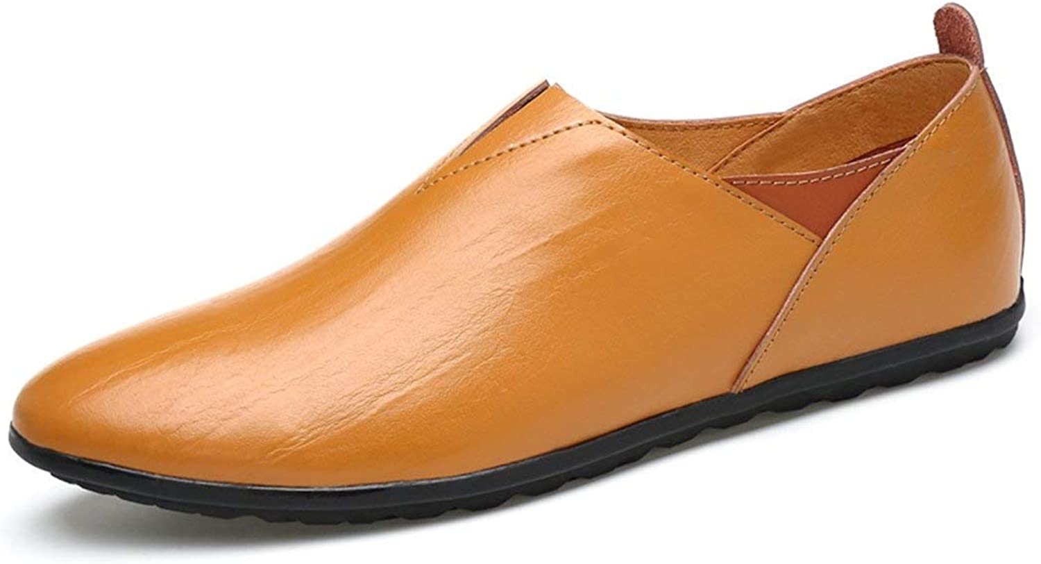 ZHRUI Men's Cap-Toe Lightweight Brown Casual Spring Summer Loafers UK 5 (color   -, Size   -)