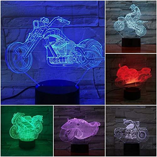 3D Illusion Moto Led USB Veilleuse 7 couleurs for enfants Enfants bébé Veilleuse Festival de Chambre de la lampe Cadeaux Décor Atmosphere lampe lumière de nuit