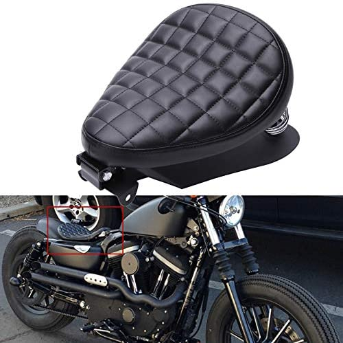 Black Driver Rider Solo Seat For Harley Sportster 883 1200 72 48 1983 2003 Motorcycle product image