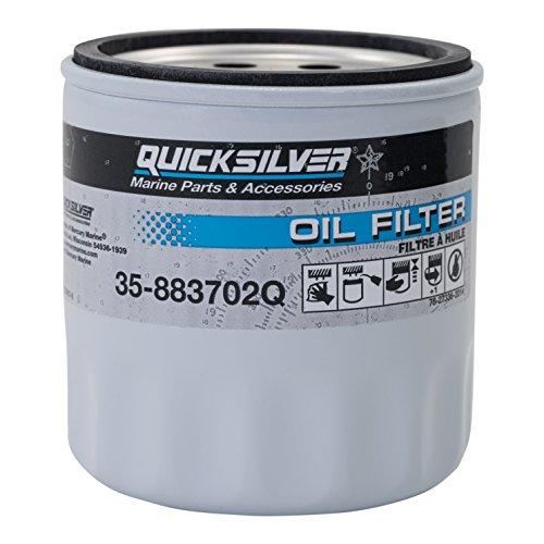 Quicksilver 883702Q Engine Block Mount Oil Filter - V-6 MerCruiser Stern Drive Engines
