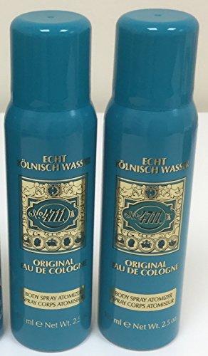 Two No.4711 Original Colonia Spray corporal 100 ml