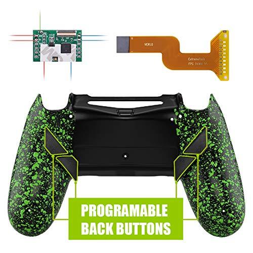 eXtremeRate Dawn Programmierbares Remap Kit für PS4 Controller mit Rückseite Hülle Gehäuse Case&Mod-Chip&4 Rückseiten Tasten-für Playstation 4 JDM 040/050/055(Grün.)