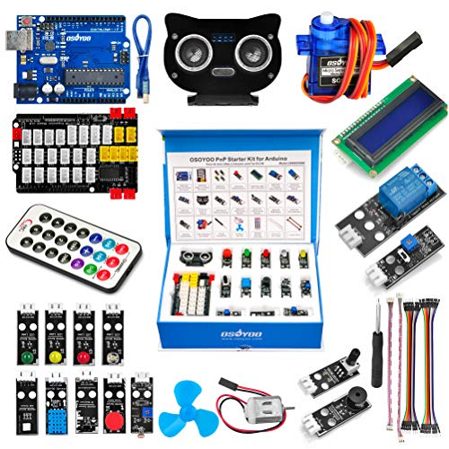 OSOYOO PnP Starter Kit for Arduino | Early STEM Education for Beginner | Ultimate Bundle Includes Plug & Play Development Board | Create Circuit with Arduino IDE Tutorial