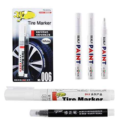 Touchup Paint Tire Ink Marker White and black Correction pen set Universal Waterproof Permanent oil based Paint Markers Car Tyre Tire Tread Rubber