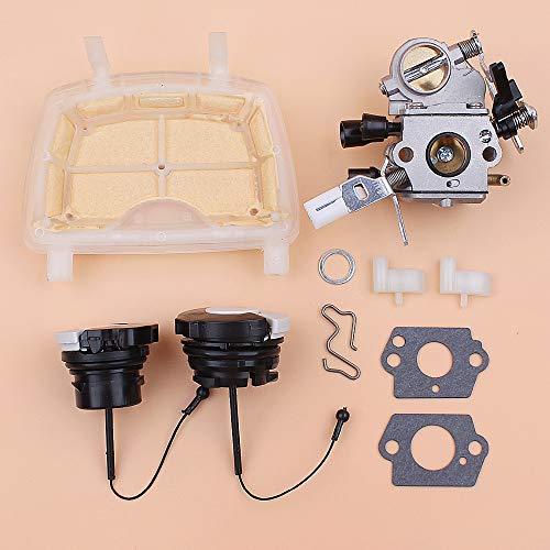 MQEIANG Kit de Perros de petróleo de Aceite de Combustible de Combustible de Filtro de Aire de carburador para Stihl MS171 MS181 MS211 MS11 MS 171 181 201 215 Motosierra 1139 120 0619