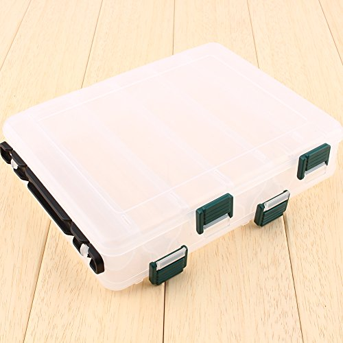 VGEBY1 Caja de Aparejos de Pesca, Caja de Organizador de Almacenamiento de plástico Impermeable de Doble Cara para Pesca al Aire Libre