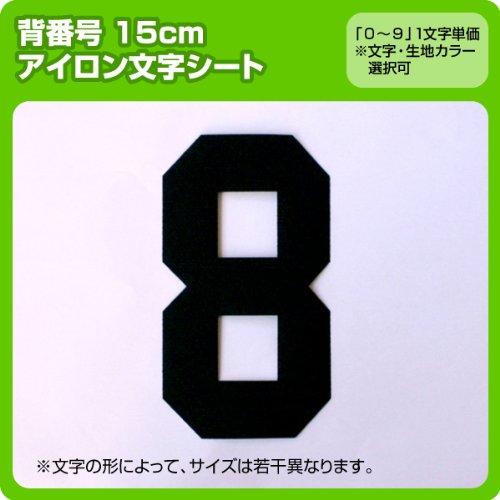 数字ナンバーワッペン(15cm) ※0〜9まで1文字単位でお申込み頂けます 生地:フェルトタイプ (青) ブロック