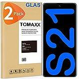 tomaxx - 2 pellicole protettive in vetro temperato per samsung galaxy s21 9h, compatibile con smartphone samsung galaxy s21