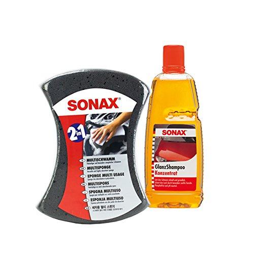Sonax - Juego de limpieza para coche y champú de brillo