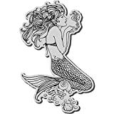 Stampendous Cling Rubber Stamp, Mermaid Image