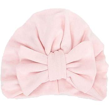 Noir Bonnet Turban B/éb/é Mamum Bonnet Noeud Turban en Coton Bandeau Naissance Mignon pour B/éb/é Fille Nouveau-n/é
