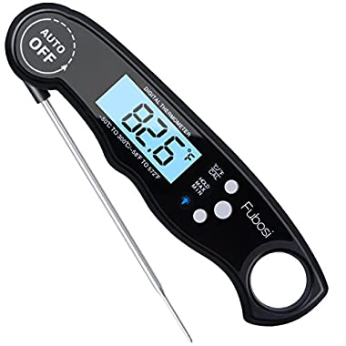 Meat Thermometer - Fubosi Digital Meat Thermometer Instant Read Food Thermometer with Calibration and Backlight Functions, Digital Cooking Thermometer for Grilling BBQ Water Milk Tea Bathing(for Baby)
