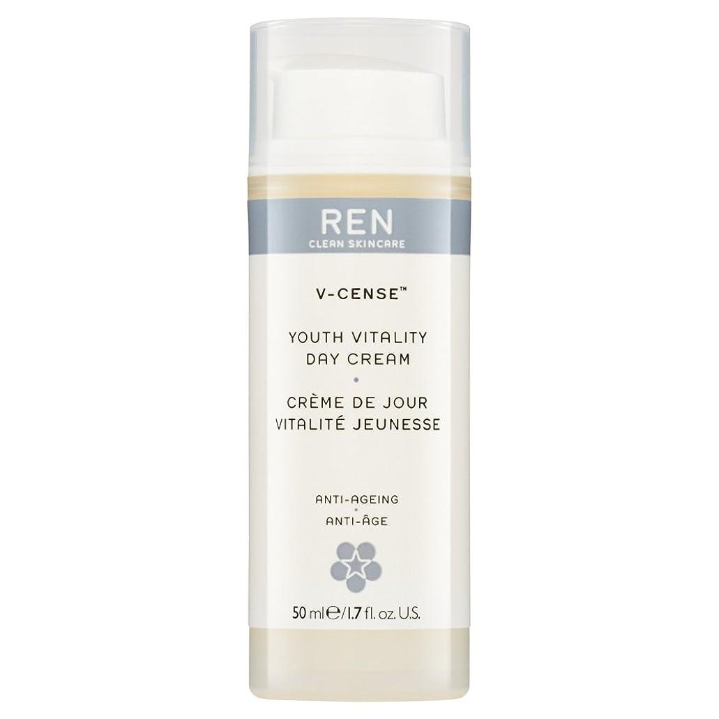 層役職レンチRenのV-焼香する若者の活力のデイクリーム、50ミリリットル (REN) (x2) - REN V-Cense Youth Vitality Day Cream, 50ml (Pack of 2) [並行輸入品]